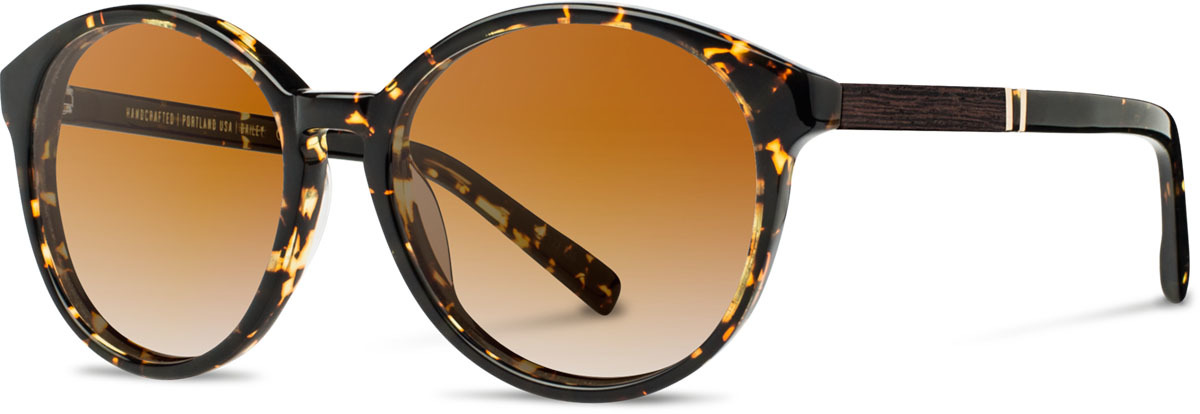 Shwood acetate wood womens sunglasses fifty fifty bailey dark speckle ebony brown fade polarized left s 2200x800