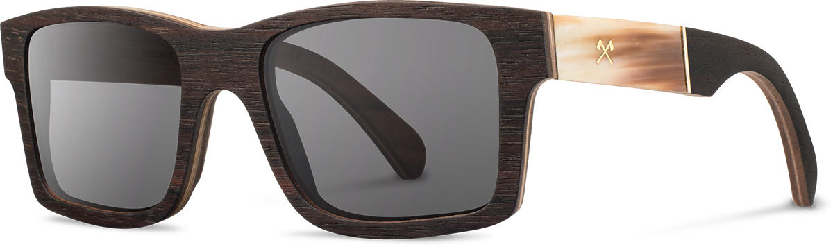 Shwood wood horn sunglasses select haystack ebony horn grey polarized left s 2200x800