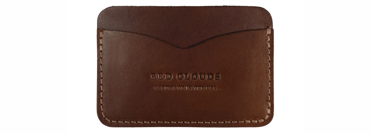 Red clouds frontside wallet