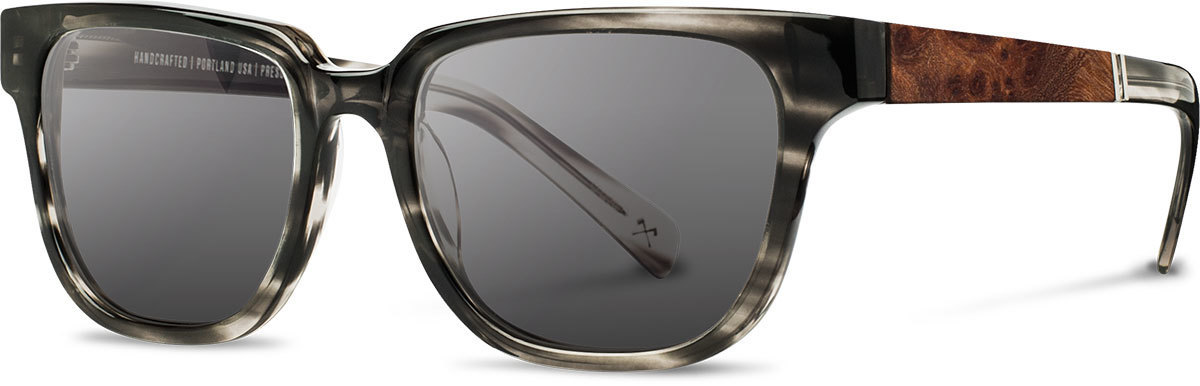 Shwood acetate wood sunglasses fifty fifty prescott pearl grey elm burl grey polarized left s 2200x800