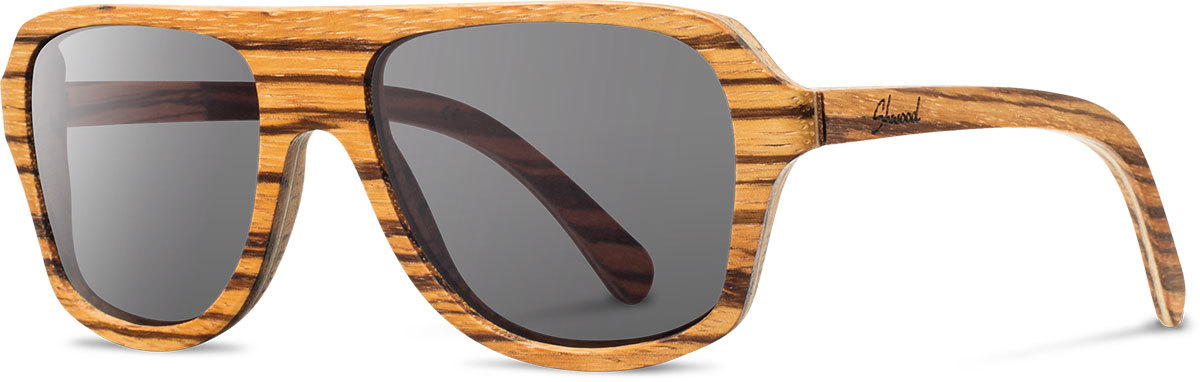 Shwood wood sunglasses original ashland zebrawood grey polarized left s 2200x800