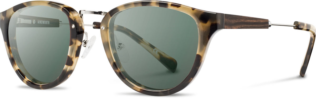 Shwood acetate wood sunglasses ainsworth vintage tortoise silver walnut g15 polarized left s 2200x800