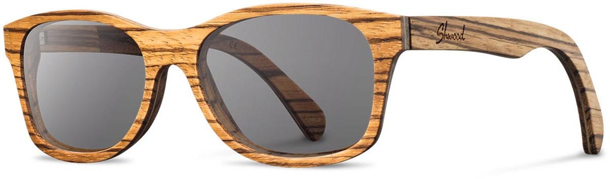 Shwood wood sunglasses original cannon zebra grey left s 2200x800