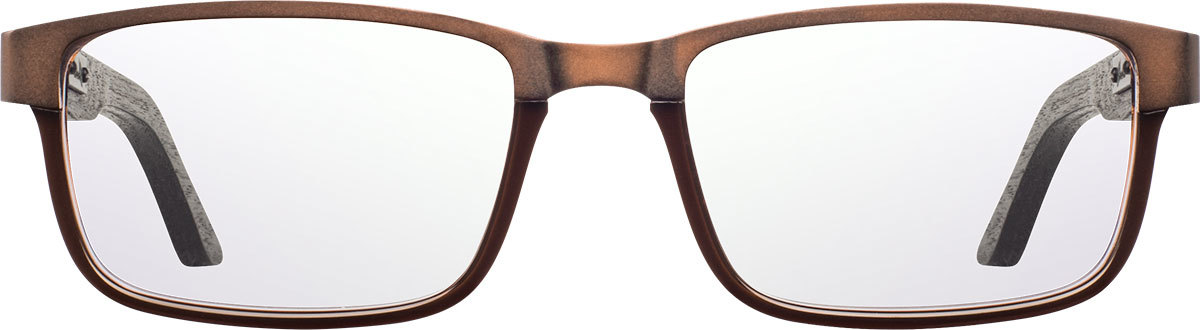 Shwood titanium acetate wood prescription glasses fremont antique bronze black dark walnut front 2200x800