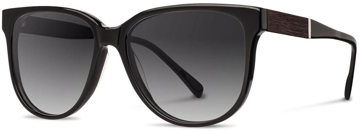 Shwood acetate wood womens sunglasses mckenzie black ebony gry fade polarized left s 2200x800