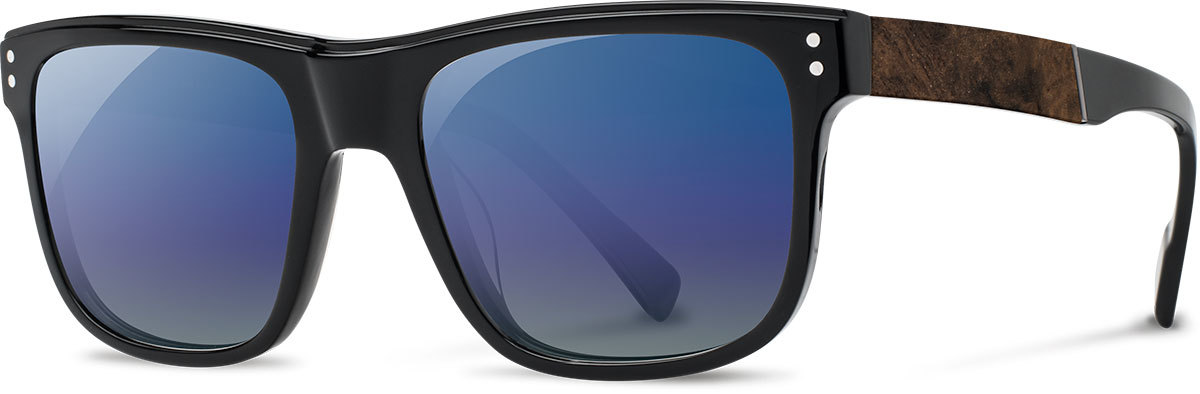 Monroe black elm burl blue flash polarized wam4belb3p a s