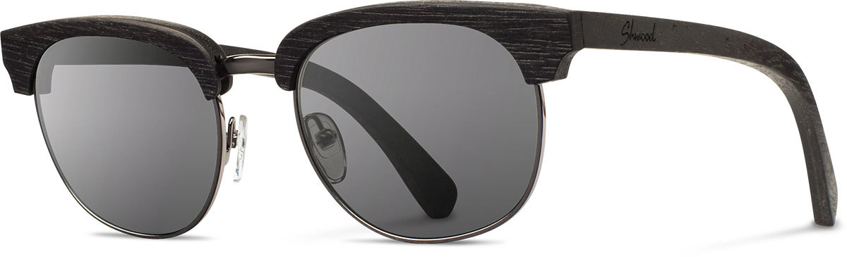 Shwood wood sunglasses original eugene dark walnut silver grey left s 2200x800
