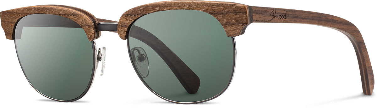 Shwood wood sunglasses original eugene walnut silver g15 polarized left s 2200x800