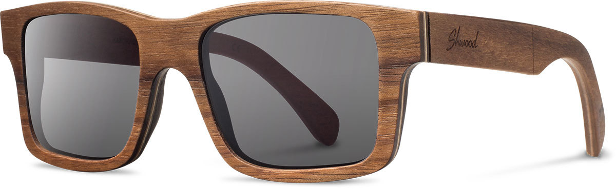 Shwood wood sunglasses original haystack walnut grey polarized left s 2200x800